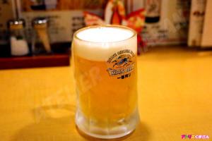 有頂天の生ビール