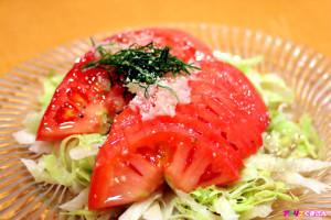 ガーリック塩トマト