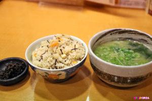 筍ご飯とアオサの味噌汁