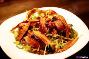 ゴボウとグリーン野菜の和風サラダ