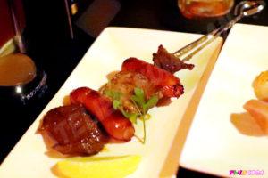 牛カルビと牛ハラミのステーキ串